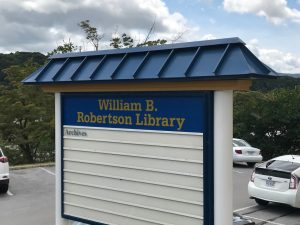 Bluefield State College Library Sign